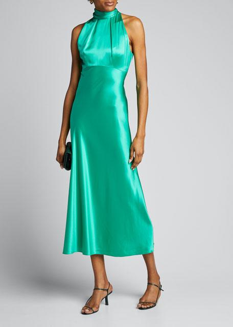 Michelle Midi Halter Dress