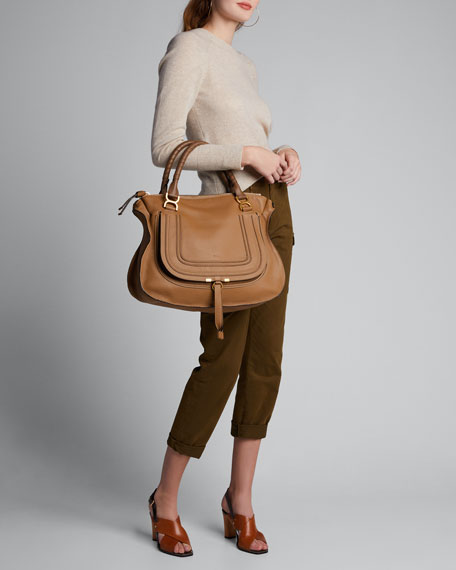 Marcie Large Leather Satchel Bag