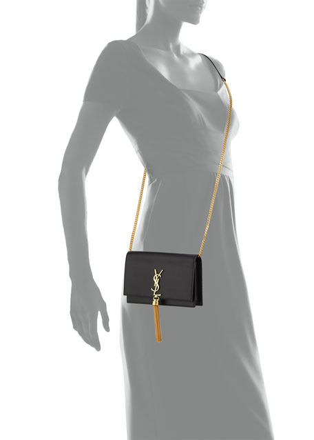 Kate Smooth Calf Tassel Chain Wallet