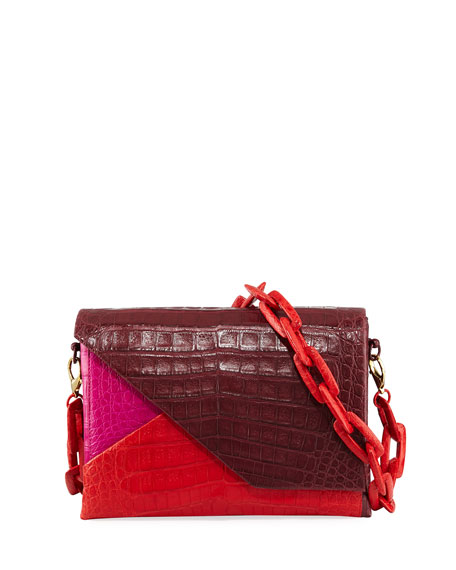 Crocodile Origami Chain Shoulder Bag