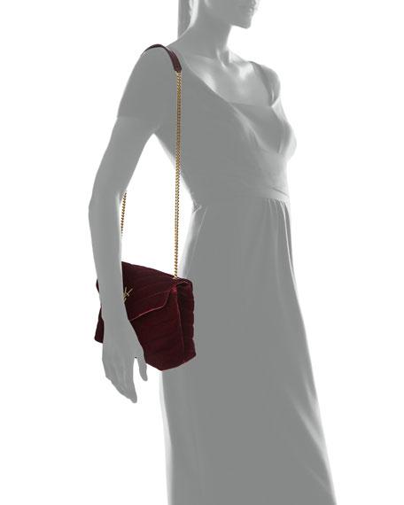 414f5566a Saint Laurent LouLou Monogram Small Velvet Shoulder Bag