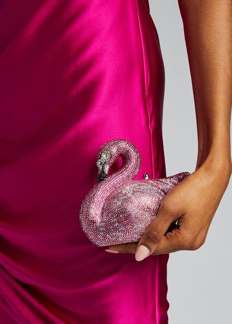 Avalon Flamingo Crystal Clutch Bag