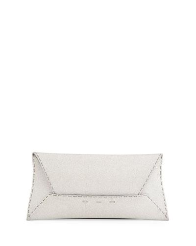 Manila Stretch Sparkle Clutch Bag  Silver