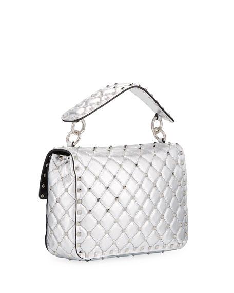 Rockstud Spike Metallic Medium Shoulder Bag