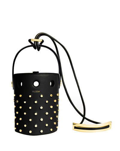 Le Mini Seau Studded Bucket Bag