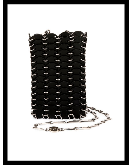 Iconic Small Sleek Calf Brass Link Chain Shoulder Bag