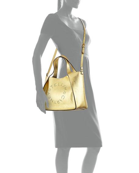 a9fceb2b607b Stella McCartney Metallic Logo Crossbody Bag