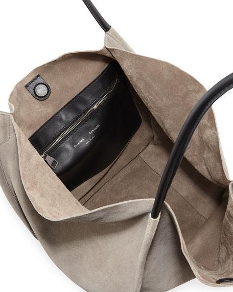 Large Suede Tote Bag
