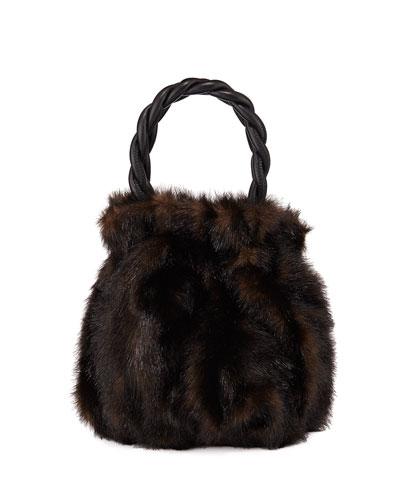 Grace Faux Mink Top-Handle Bag