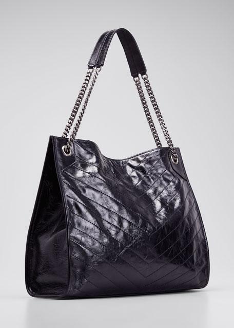 Niki Crinkled Calf Tote Bag