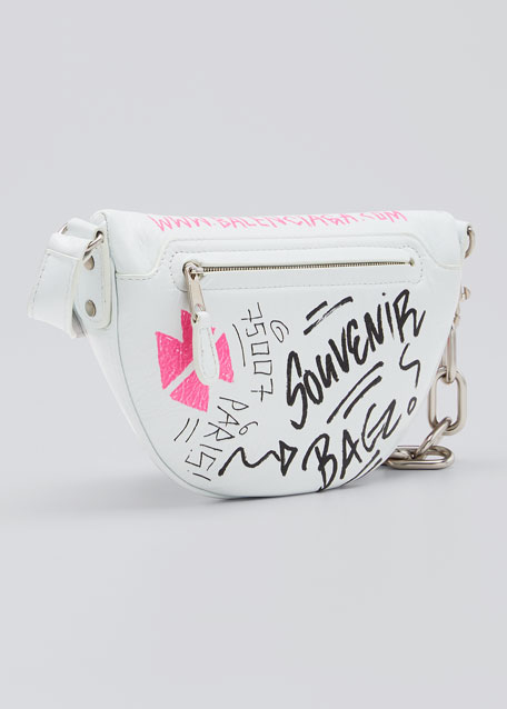 Souvenir XXS Graffiti Lambskin Belt Bag