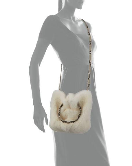 Gia Mink Fur and Python Bucket Bag