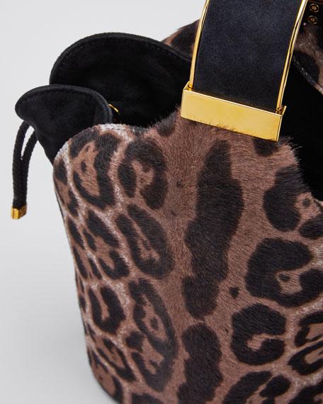 Kit Snow Leopard Calf Hair Bucket Bag