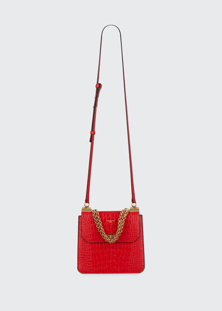 Catena Medium Crocodile Shoulder Bag