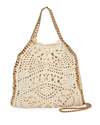 Falabella Mini Crochet Ajouree Tote Bag