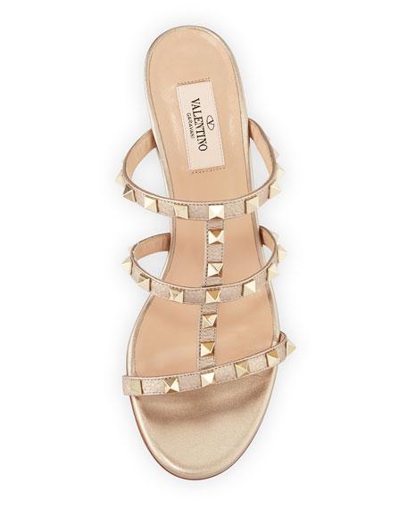 Rockstud Metallic Mule Sandal