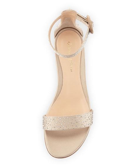 Crystal Portofino 20 Crystal-Embellished Silk 25mm Sandal