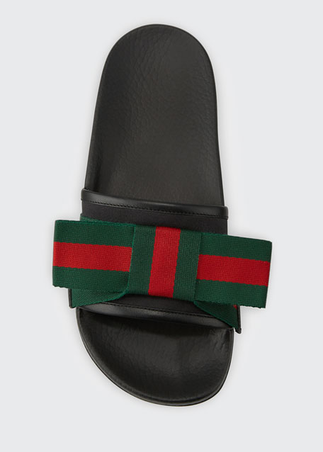 Flat Web Slide Sandal