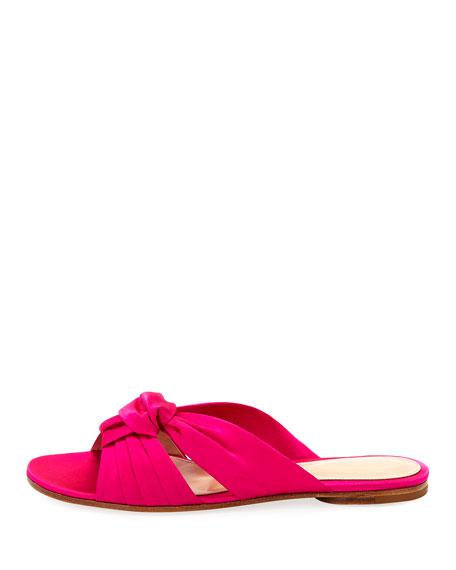 Satin Bow Knot Slide Sandal