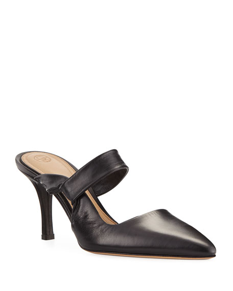 Image 1 of 1: Gala Twist Leather Mule Pumps