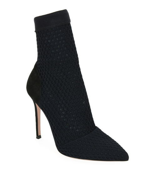 Gianvito Rossi Pointed Knit 105mm Booties