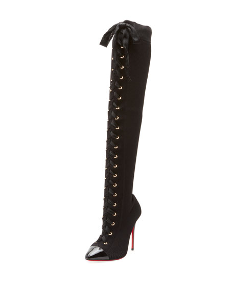 size 40 31826 d1b7c Christian Louboutin Frenchie Over-The-Knee Red Sole Boots