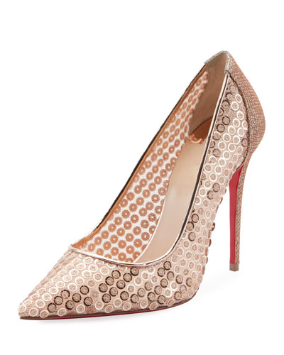 576b07f3ed ... low price sequined lace red sole pumps quick look. christian louboutin  320af 4ede3