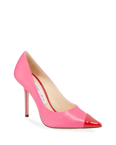 Image 1 of 1: Love Asymmetric Two-Tone Pumps