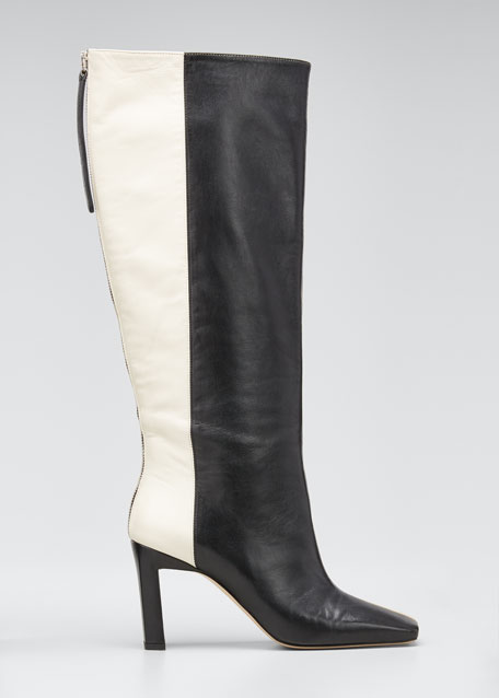 Image 1 of 1: Isa Long Zip Leather Boots