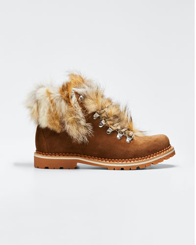 Camelia Boots with Fox Fur