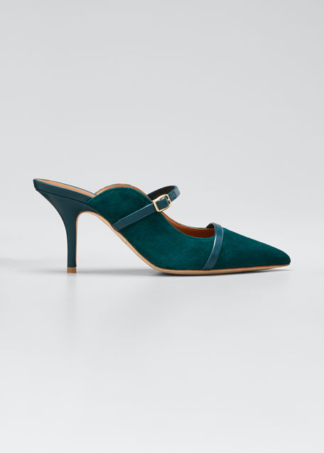Melody Suede Pointed-Toe Mules