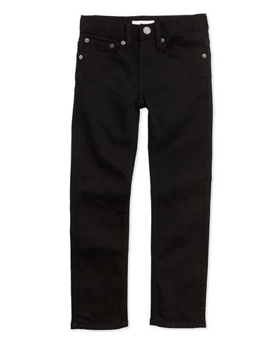 Skinny Five-Pocket Jeans, Black, 4Y-14Y