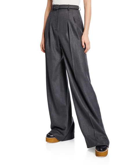 Image 1 of 1: Vargas Cashmere Pleated Pants