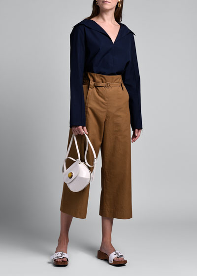 Woven Belted Culottes