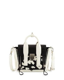 Pashli Mini Zip Embroidered Satchel Bag