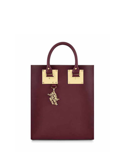 Mini Buckled Leather Tote Bag