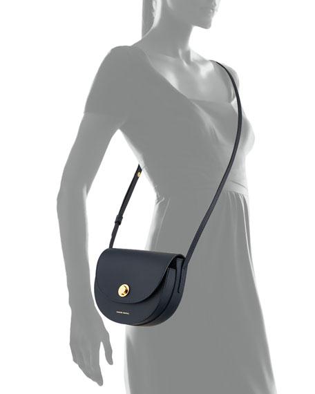 Mini Calf Leather Saddle Bag