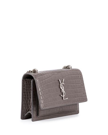 Monogram Sunset Crocodile-Embossed Wallet on Chain
