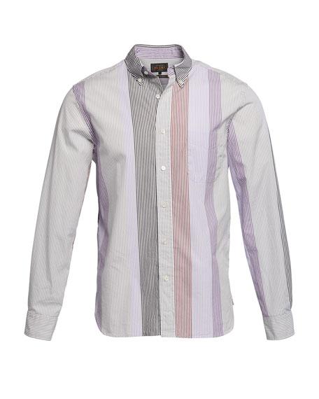 Men's Multi-Stripe Poplin Sport Shirt
