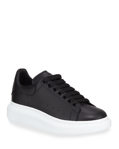 Image 1 of 1: Men's Bicolor Leather Low-Top Sneakers