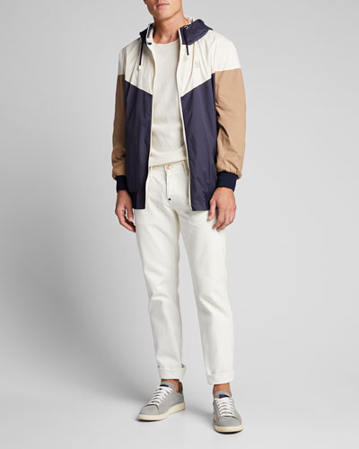 Men's Spa Colorblock Nylon Wind Jacket