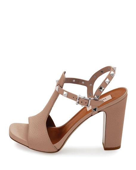 d58da38d0c83 Valentino Garavani Rockstud T-Strap 90mm Sandal