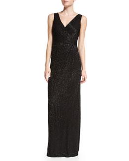 Lyndsey Maxi Wrap Dress, Black