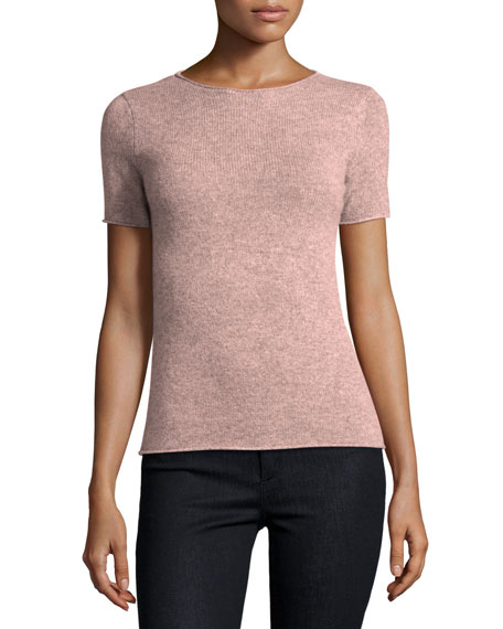 Tolleree Short Sleeve Cashmere Sweater