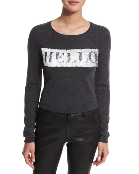 Ric Sequined Cropped Sweatshirt