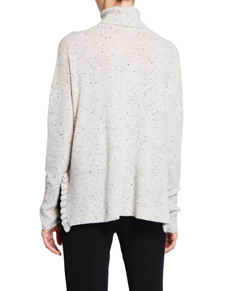 Layla Speckled Cashmere Turtleneck Sweater