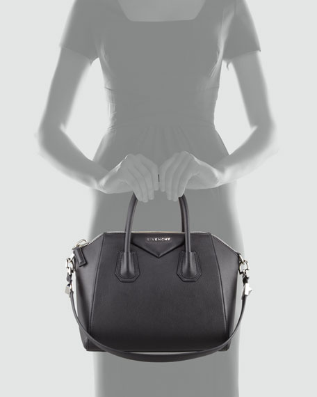 2d3c7bc704 Givenchy Antigona Small Sugar Goatskin Satchel Bag