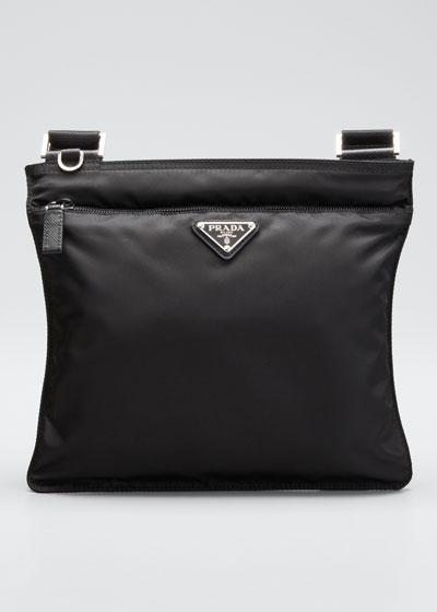 Vela Flat Crossbody Bag  Black (Nero)