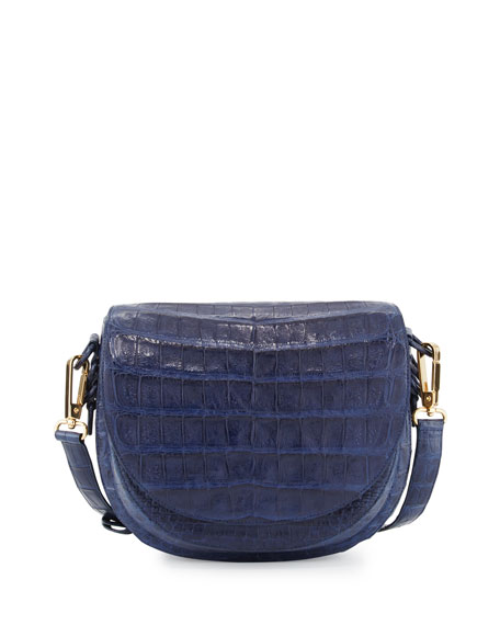 New Crocodile Saddle Bag