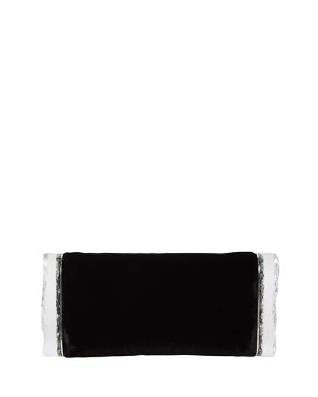 Edie Parker Soft Lara Velvet Clutch Bag